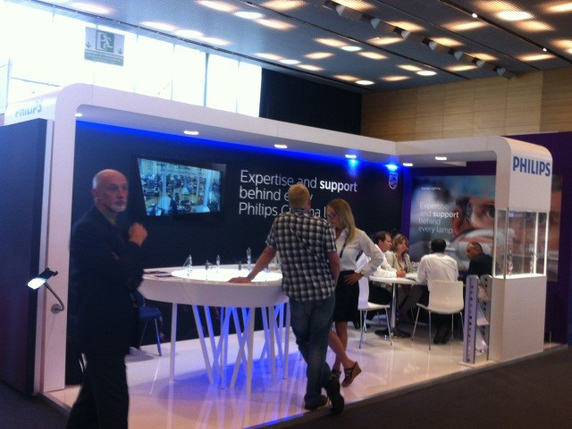 Philips stand at the CineEurope exhibition held in Barcelona , Spain