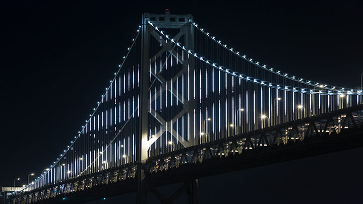 Bay Lights San Francisco Bay Bridge