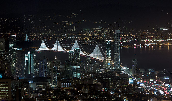 Bay Lights San Francisco-Oakland Bay Bridge